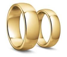 1 Par Anillos de Boda - Oro Amarillo 750 - Ancho D : 6mm Y H: 8mm - Fuerza 2,3