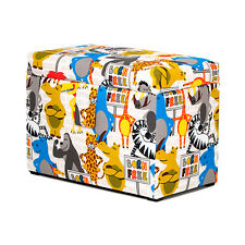 Born Free Animals Design Toy Chest Soft Closing Foam Padded Storage Children's