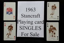 1963 STANCRAFT Playing card GREEN BACK SINGLES for sale USED $2.99 ea You Pick!