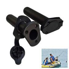2Pcs Plastic Flush Mount Fishing Boat Rod Holder Bracket and Cap Cover Kayak US
