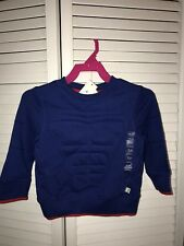 Baby Gap boys size 18-24 months Blue Super Man Muscle  Long Sleeve Sweat shirt