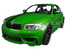 2011 BMW 1 M COUPE JAVA GREEN LTD ED 504PC 1/18 CAR BY MINICHAMPS 110020024