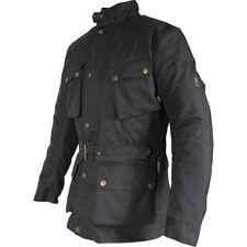Richa Bonneville Wax Cotton Waterproof Ladies Motorcycle Jacket Black 082/bonn/blk/l09 5xl