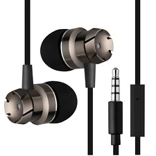 Headphones Earphones In-Ear for Samsung HTC iPhone 6S 6 5S iPod with Microphone