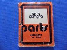 CAMARO MASTER PARTS CATALOG 67 - 1974 *original*