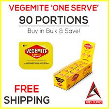 90 x Vegemite Single Serve Portions - Australian Breakfast Snack Motel EXP AUG17