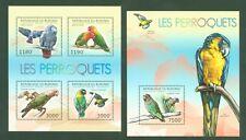 Burundi 2012 - Papageien Ara Perrots Perroquets - Graupapagei Blaulatzara **