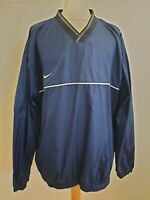 GG873 MENS NIKE TEAM BLUE V-NECK GOLF WINDBREAKER JUMPER UK XL EU 54