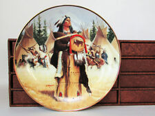 Hamilton Noble American Indian Women Collector Plates Lot of 7 with Storage Box