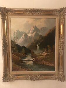 orig. Gemälde GUSTAV  WEISS  (GUWE München 1896 - 1973) Grödener Tal / Dolomiten