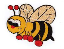 Aufnäher Bügelbild Iron on Patches Kinder Baby Biene Hummel (a1b3)