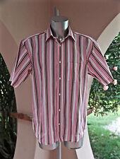 camisa de rayas rosa de manga corta SERGE BLANCO 15 talla XL EXCELENTE ESTADO