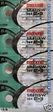 4 Maxell 364 AG1 LR621 SR621 SR621SW Batteries