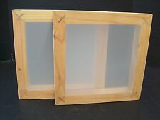 """2 PACK WOOD SILK SCREEN FRAMES 11""""X 11"""" OD WITH 110 MESH"""