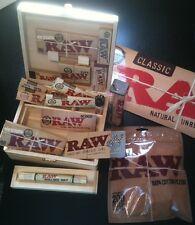 """""""BIG RAW DEAL"""" lot,rolling paper,tips,roller,stash box,grinder,filter,king size"""