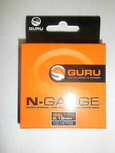 Guru N-Gauge hooklength 7lb 0.19mm 100m Fishing tackle
