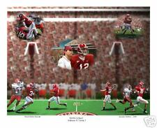 ALABAMA CRIMSON TIDE FOOTBALL VS FLORIDA S/N ART PRINT