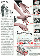 1941 Scotch Cellulose Tape Minnesota Mining & Mfg Co. Ad Fingers Everywhere