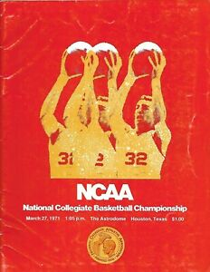 1971 NCAA Championship Program UCLA Edges Villanova Win #7 NICE!!
