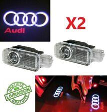 2x Led Logo Audi Projecteur Sol Laser Ampoule Porte Auto A1 A3 A4 A5 A6 A7 A8