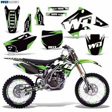 Graphic Kit Kawasaki KX250F Dirt Bike KX 250f 250 MX Moto w/Backgrounds 04-05 WD