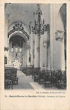 BR46461 Saint Pierre le moutier interieur de l eglise     France