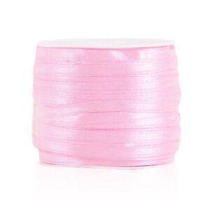 25/50Yard Craft Satin Ribbon 3/6/10/15/20/25/38/50mm Bow Wedding Favor 30 Color