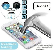 NEW 100% Genuine Tempered Glass Screen Protector Front For Apple iPhone 4 / 4s