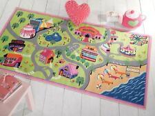 Matrix Kiddy Girls World Roads Maps Kids / Childrens Play Rug 100x190cm