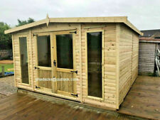 APEX SUMMER HOUSE GARDEN OFFICE T&G HEAVY DUTY SHED TANALISED MAN CAVE BAR