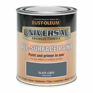 Durable Formula 250ml Universal Paint Gloss Slate Grey For Galvanised Metal