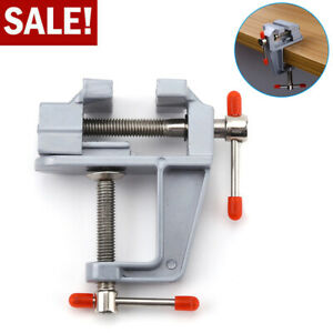 Mini Bench Vise Table Swivel Lock Clamp Miniature Vice Craft Cast Aluminum