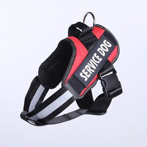 Adjustable Large Service Dog Harness Soft Vest Walking Out Hand Strap Pet collar