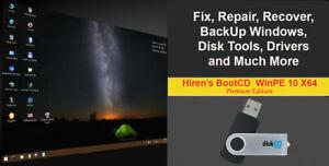 Hiren's BootCD PE X64 Bootable USB 2019 Fix Repair BackUp Clone Windows