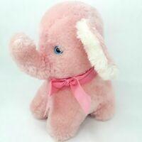 Jakas Elephant plush soft toy doll Pink Teddy bear friend Vintage