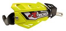 Paire Déflecteurs Rtech FLX Alu Jaune Fluorescent Handguards Universel Motorrad