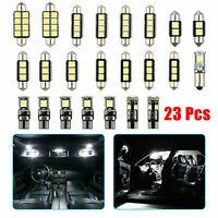 23Pcs LED Car Inside Light Dome Trunk License Plate Lamp Interior Bulb Protable