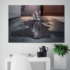 Canvas Paintings Island Decorations Modern Prints Artwork Cat And Tiger Wall Art