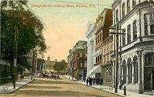 Vintage Postcard George Street Looking West Halifax Nova Scotia Canada