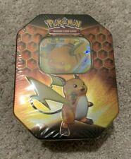 Pokemon Tcg Hidden Fates Raichu Tin Factory Sealed
