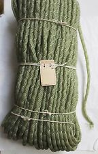 SALE Antique Vintage Millinery Green Tubular Swiss Horsehair Unused 5/16""