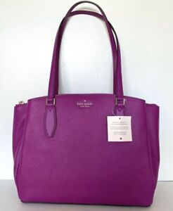 New Kate Spade Monet Large Triple compartment Tote Leather Baja Rose