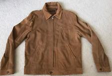 SISLEY Soft Suede Leather Jacket Coat Men's Medium