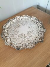 SILVER PLATED VICTORIAN SALVER/TRAY  28cms