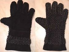 Chainmail Leather Gauntlet Butted Black Leather Chain Mail Glove.brand new