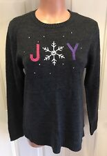 CHRISTOPHER & BANKS, Petite Size Small, Christmas/Holiday Sweater w/Bling.  NEW.