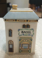 LENOX Spice Village Fine Porcelain BASIL  House 1989 Handcrafted