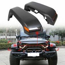 For 07 18 Jeep Wrangler Jk High Top Front Fender Flares With Lights Amp Inner Liners Fits Wrangler