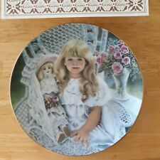 Anna 1989 collectors plate Edwin Knowles Heirloom and Lace Series Corinne Layton