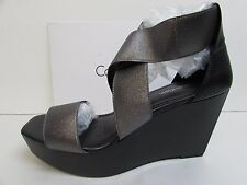 Calvin Klein Size 10 M Black Gray Wedge Heels New Womens Shoes